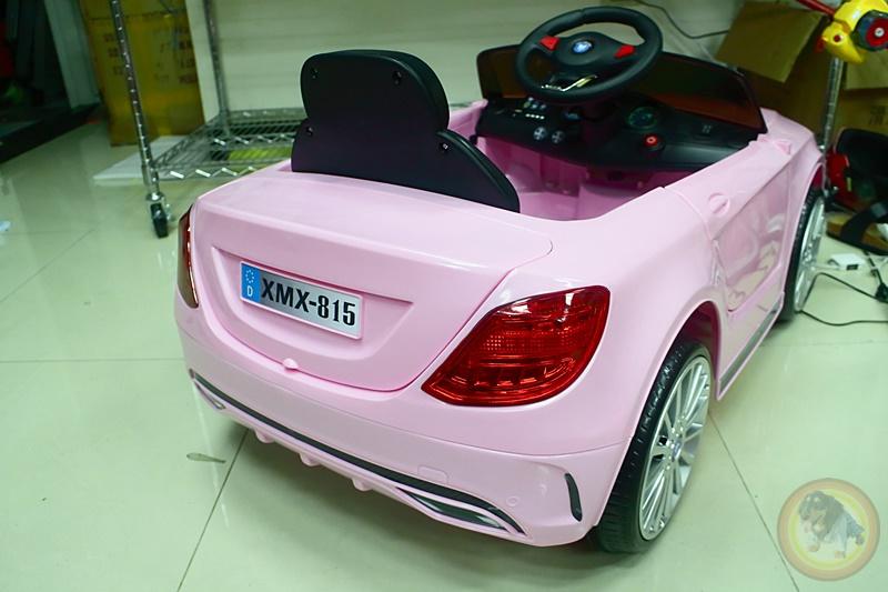 樂園毒-兒童超跑出租-婚禮花童-粉紅賓士-BENZ-燈光版-兒童電動車