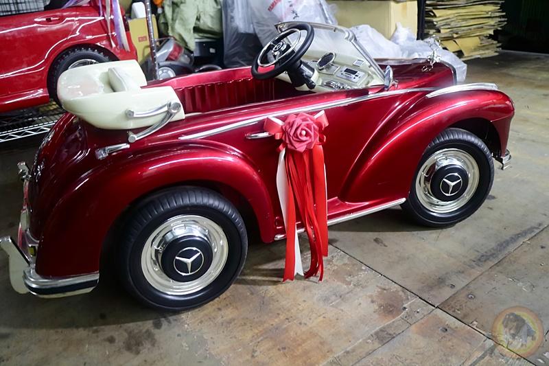 樂園毒-兒童超跑出租-婚禮花童-復古老爺車-賓士BENZ-300S-紅-兒童電動車
