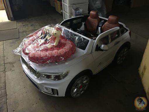 樂園毒-兒童超跑出租-婚禮花童-雙人座-寶馬-BMW-X7-皮椅版-兒童電動車