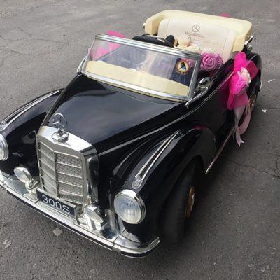樂園毒-兒童超跑出租-婚禮花童-復古老爺車-賓士BENZ-300S-黑-兒童電動車