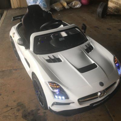 樂園毒-兒童超跑出租-婚禮花童-賓士SLS-BENZ-燈光版-授權超跑-A-兒童電動車