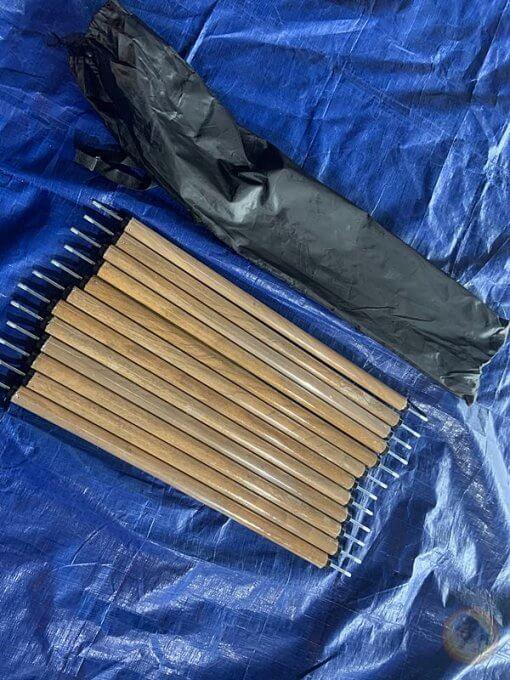 黑心腸-露營好物-縮繩柱-特製木紋款-神殿-鍾型-Canvas Camp等-60CM牆面可用-熊帳-Nordisk